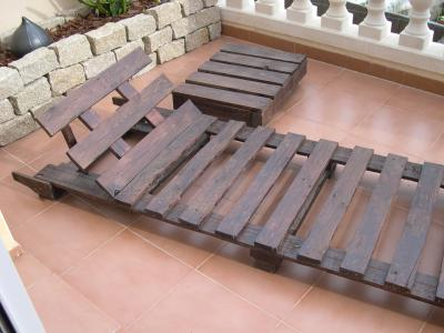 How to make a deck chair with pallets, drawings and instructions 8