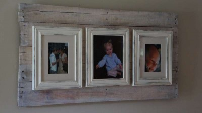 How to make a photo frame with pallets 10