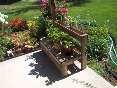 How to make a summer bench for the garden 2 How to make a summer bench for the garden