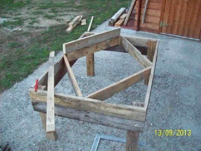 Instructions of how to make a planter with geometric shapes 2