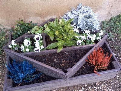 Instructions of how to make a planter with geometric shapes