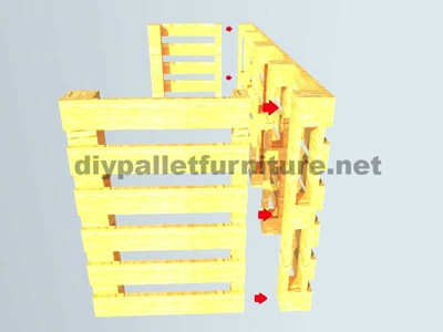 Instructions of how to make an office desk with pallets 7