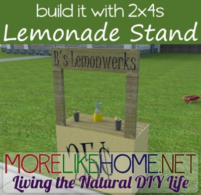Instructions to make a lemonade stand with pallets