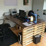 Office desk with europalets ends