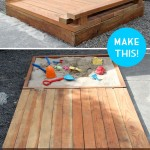 Plans to build a sandbox for the children made ​​with pallets