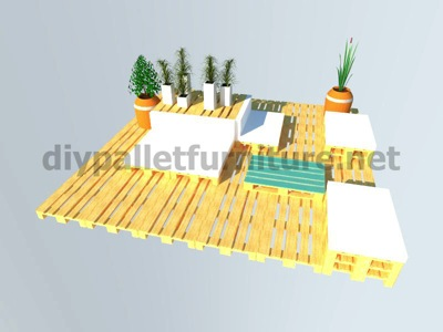 Step by step instructions of how to make a chillout lounge with pallets 10