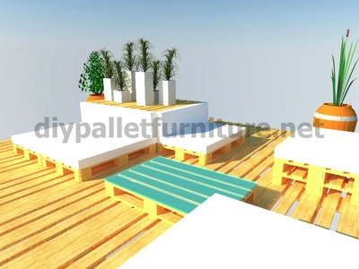 Step by step instructions of how to make a chillout lounge with pallets 11