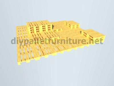 Step by step instructions of how to make a chillout lounge with pallets 8