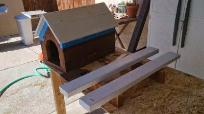 Steps and instructions of how to build a mailbox made with pallets 14
