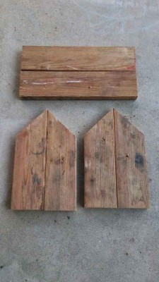 Steps and instructions of how to build a mailbox made with pallets 5