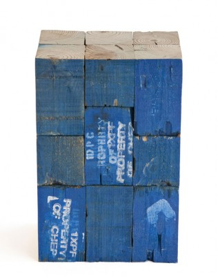Stools made from pallet wooden blocks 2