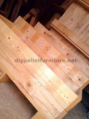 The pallet planter and urban garden with steps of Manou 4