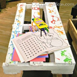 Build a custom table with pallets for your children