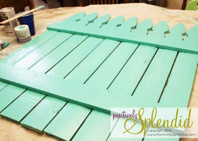 Build your own pallet fence with spring patterns 2