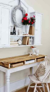 How to instructions to customize a desk with pallets 1