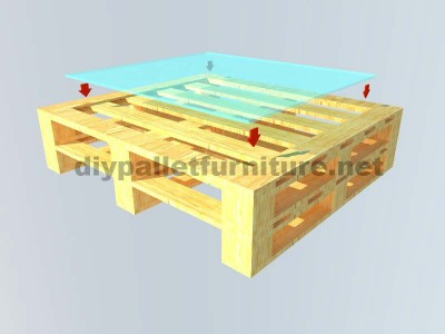 Instructions of how to make an elegant table with pallets 4