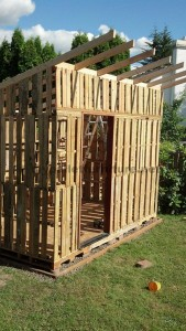 The garden cottage made ​​with pallets from Curt 6