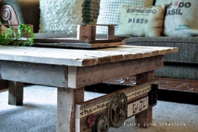 A table made ​​from pallets with rural design, step by step 4