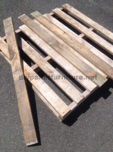Instructions for making a bed headboard with pallets 2