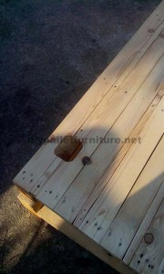 TV cabinet made ​​with traces of pallets 7