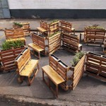 """Brothers in benches"" pallet social project done in Johannesburg"