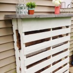 Build a bar with 2 pallets for your garden 4