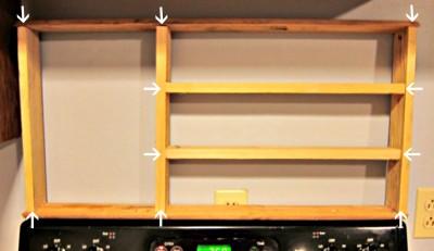 Build a pallet species organizer for your kitchen 3