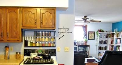 Build a pallet species organizer for your kitchen 4