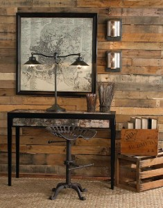 Coated your bedroom with pallet planks