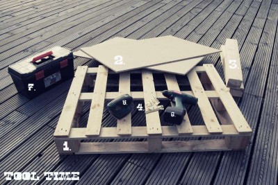 How to build a juvenile table for the living room with one pallet 2