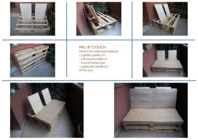 How to make a sofa with pallets using only support points