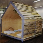 Interior chill-out house or games corner made of pallets