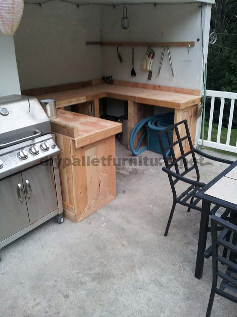 Kitchen Made With Wooden Pallet