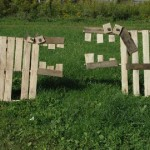 Mark Dabelstein, an artist who works with pallets