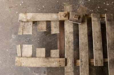 Mark Dabelstein, an artist who works with pallets 3