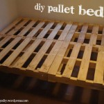 Bed frame building process with pallets