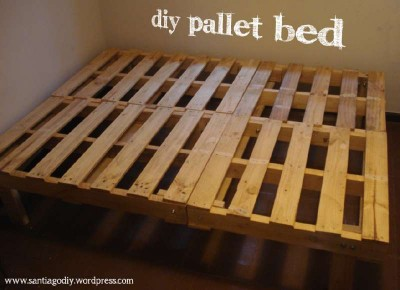 Mattress building process ​​with pallets