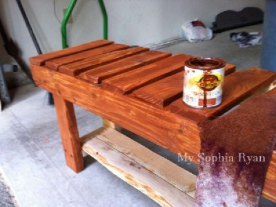 Step by step guide a bench for the hall made ​​with pallets 2