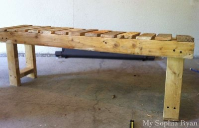 Step by step guide a bench for the hall made ​​with pallets