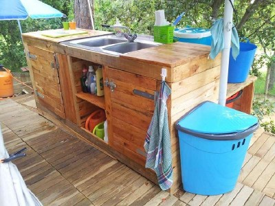 10 incredible kitchen designs made ​​with pallets 1