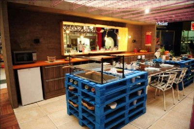10 incredible kitchen designs made ​​with pallets 10