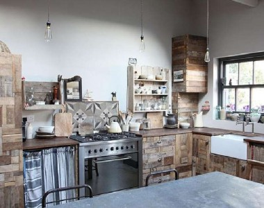 10 incredible kitchen designs made ​​with pallets 4