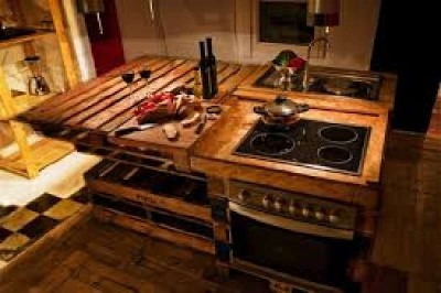 10 incredible kitchen designs made ​​with pallets 5