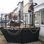 A pirate ship made with pallets 1
