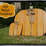 A pumpkin for Halloween made ​​with pallets, step by step