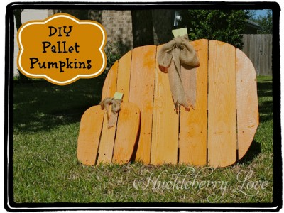 A pumpkin for Halloween made ​​with pallets, step by step 1