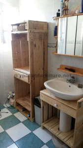 Bathroom furniture made ​​entirely from pallets 2