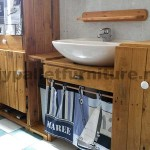 Bathroom furniture made ​​entirely from pallets