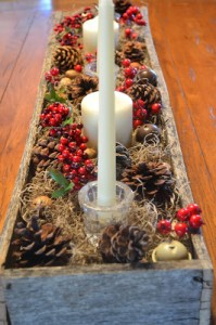 Christmas center made ​​with pallets 1