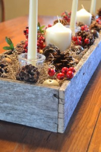 Christmas center made ​​with pallets 4
